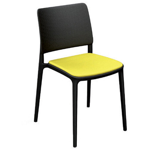Frovi TONE Poly Stacking Canteen Chair H800xW500xD500mm 460mm Seat Height Anthracite - Fabric Band A