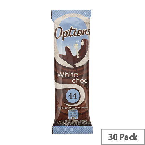 Options White Hot Chocolate 11g Pack of 30 W550100
