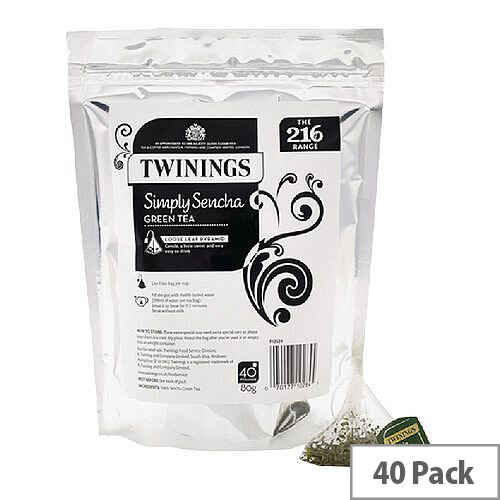 Twinings Simply Sencha Pyramid Tea Bags Pack of 40 F12529