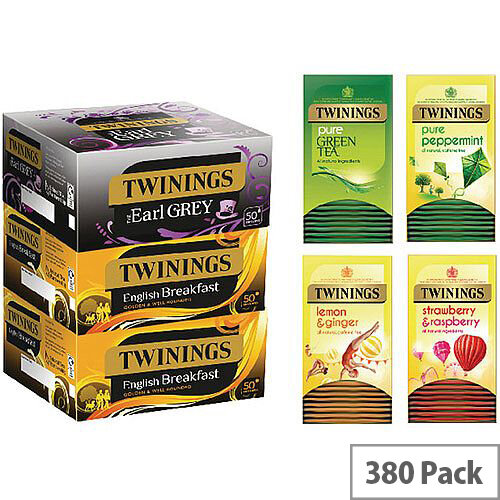 Twinings Favourites Tea Bags Variety Pack of 380 F14907