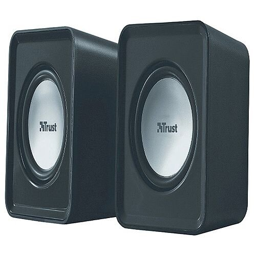 Trust compact 6 Watt 2.0 speaker set Watt RMS Pack 19830