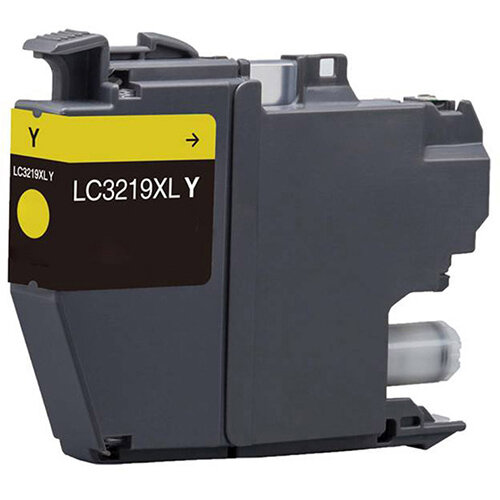 Compatible Brother LC3219XLY Yellow 1500 Page Yield Ink Cartridge