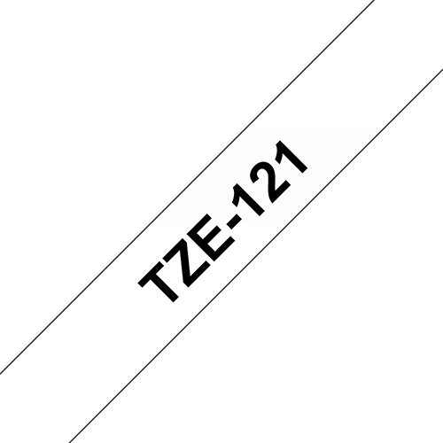 Compatible Brother TZE121 Black on Clear Label Tape 9mm x 8m Pack of 5
