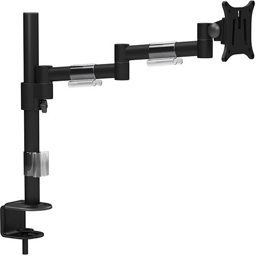 "Leap Single Monitor Arm Black - Up to 27"" Screen, Maximum Load 8kg, VESA Compatible Arm - Colour: Black"
