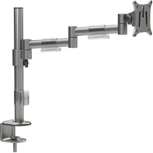 "Leap Single Monitor Arm Black - Up to 27"" Screen, Maximum Load 8kg, VESA Compatible Arm - Colour: Silver"