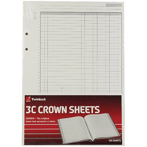 Twinlock Crown 3C F9 Treble Cash Refill Sheets