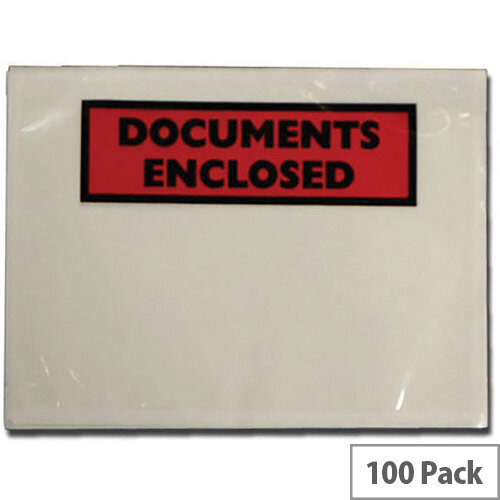 Tenza Self Adhesive Documents Enclosed Wallets A7 Pack of 100 A72/100 PLE-DOC-A7-100