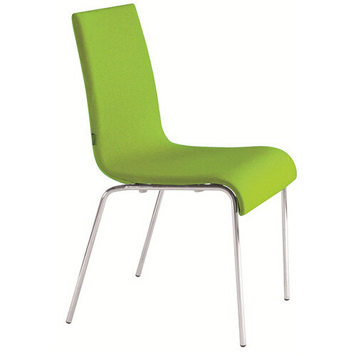 Frovi ZERO Fully Upholstered Canteen Chair With 4 Leg Chrome Base H850xW450xD510mm 450mm Seat Height - Fabric Band H
