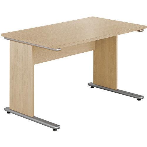 Urban Straight Desk 1380mm wide UB1380O Blonde Oak