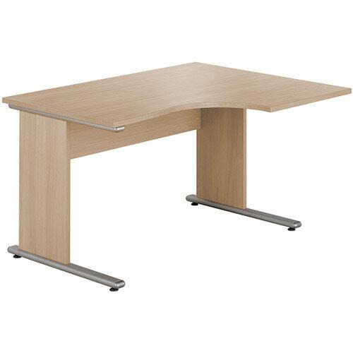 Urban Right Hand Ergonomic Desk Width 1380mm Blonde Oak