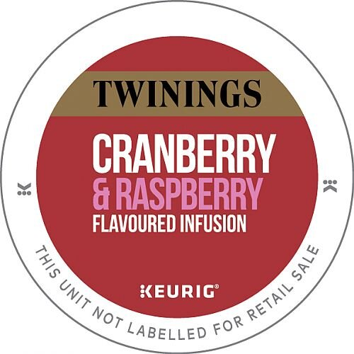 Twinings Cranberry &Raspberry Infusion Tea 10 K-Cup Pods for Keurig