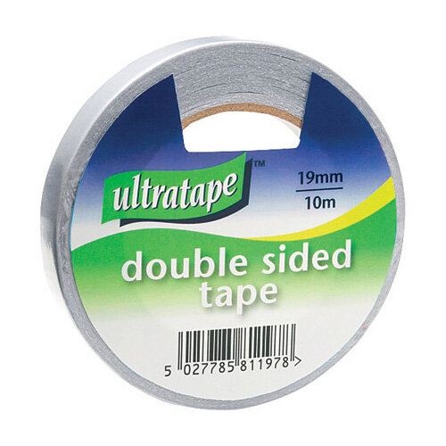 Double Sided Tape 19mmx10m 1 Roll Ultra Clear Pack of 12 DS01031910UL