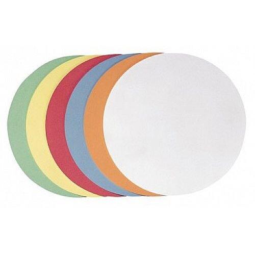 Franken Training Cards Circle 95mm Assorted Colours Pack of 250 UMZH 10 99