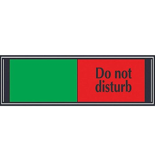 Stewart Superior Sliding Door Sign Do Not Disturb W255xH52mm Aluminium and PVC