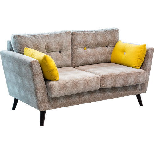 Frovi URBAN 2 Seater Sofa With Black Oak Frame H870xW1650xD835mm 460mm Seat Height - Fabric Band D