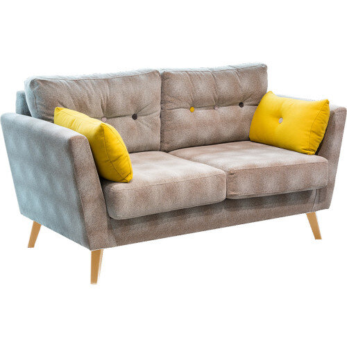 Frovi URBAN 2 Seater Sofa With Natural Oak Frame H870xW1650xD835mm 460mm Seat Height - Fabric Band D