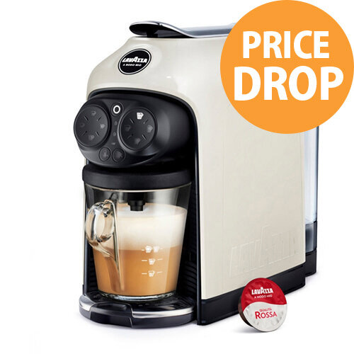 Lavazza Modo Mio Desea Capsule Coffee Machine White Cream