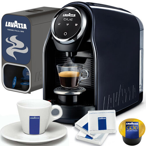 Lavazza LB 900 Blue Classy Compact Coffee Machine Bundle Pack Special Offer