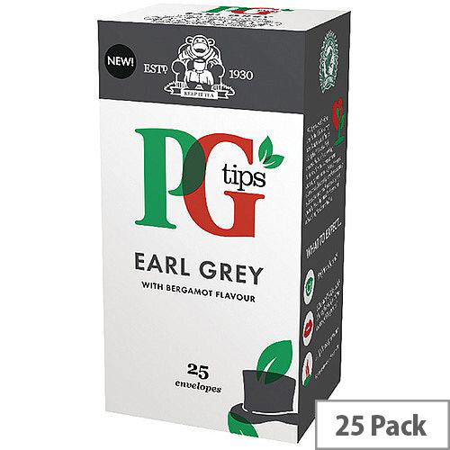 PG Tips Earl Grey Envelope Tea Bags Pack of 25 29013701