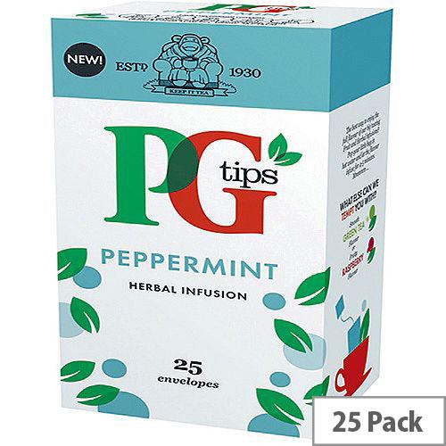 PG Tips Peppermint Envelope Tea Bags Pack of 25 49095601