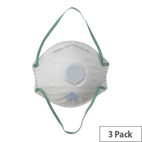 Vitrex Valved Moulded FFP3 Face Mask Pack of 3