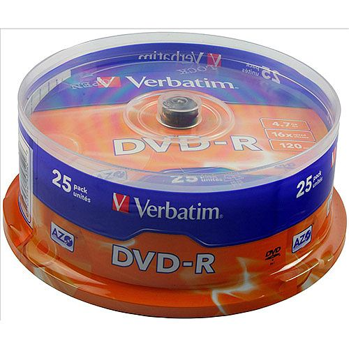 Verbatim DVD-R 16x Spindle Pk 25 43522