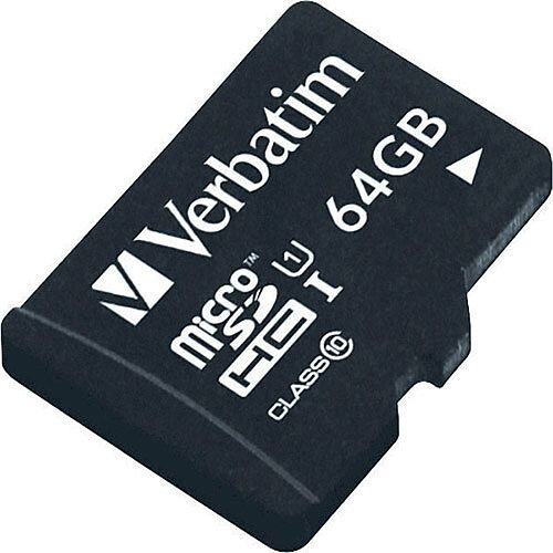 Verbatim Tablet 64GB micro SDHC Memory Card With USB Reader 44060