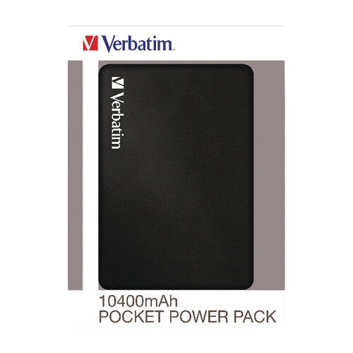 Verbatim Pocket Power Pack 10400mAh with LED Indicator 49946