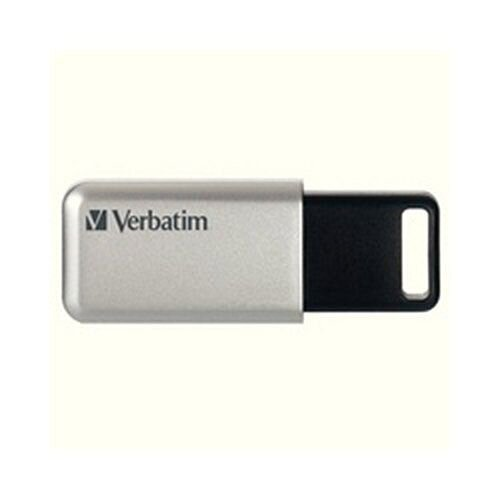 Verbatim Silver/Black Secure Pro USB 3.0 Flash Drive 32GB 98665