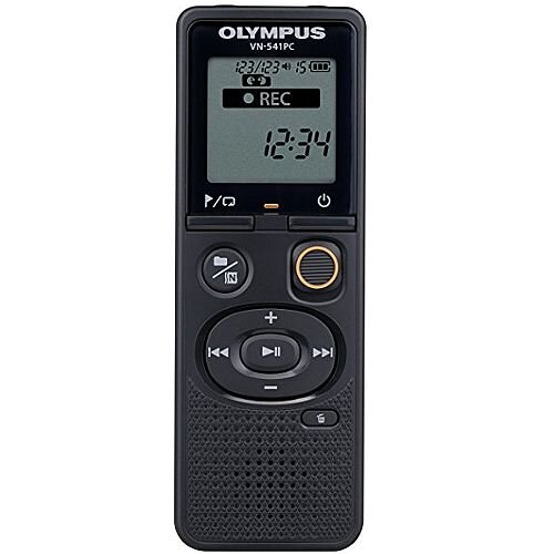 Olympus VN-541PC Digital Voice Recorder With 4GB Of Internal Memory. Black in Colour. 60 Hours of Battery Life, Over 1,500 Hours of Recording. Micro USB Cable Included For Easy Data Transfer. Ideal For Use In Offices, Meeting Rooms, Conferences &More.