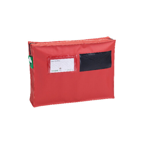 Versapak Mail Pouch With Gussett 355x250x75mm Small Red ZG1 T2SEAL