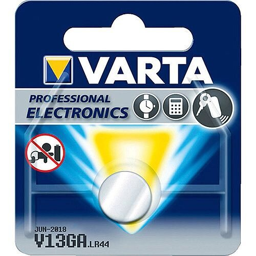 VARTA Professional Electronics Primary LR44 Button Cell Coin Alkaline Battery (Pack of 1)