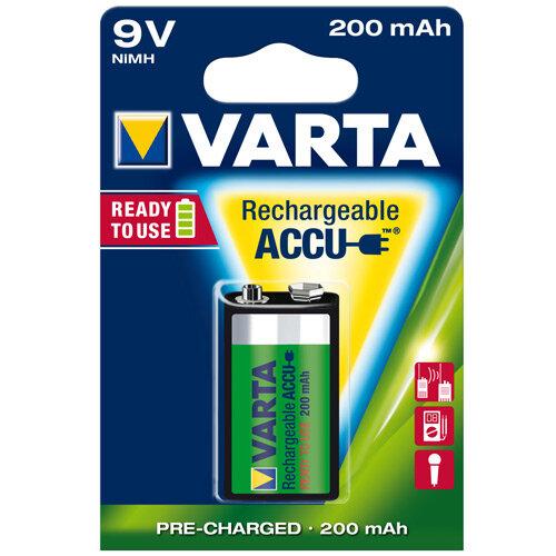VARTA Rechargeable Battery 9V NiMH 200mAh (Pack of 1)