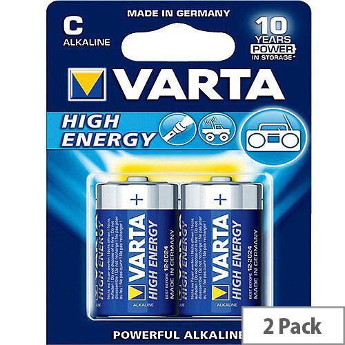 VARTA High Energy Alkaline C Battery (Pack of 2)