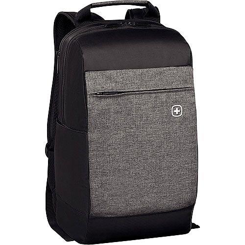Wenger Bahn 16in Laptop Backpack with Tablet Pocket - Black 601082