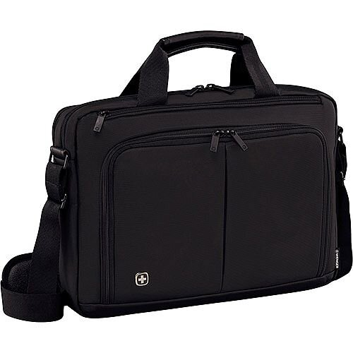 Wenger Source 14in Laptop Briefcase with Tablet Pocket - Black 601064