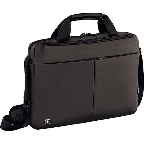 Wenger Format 16in Laptop Slimcase Bag with Tablet Pocket - Grey 601063