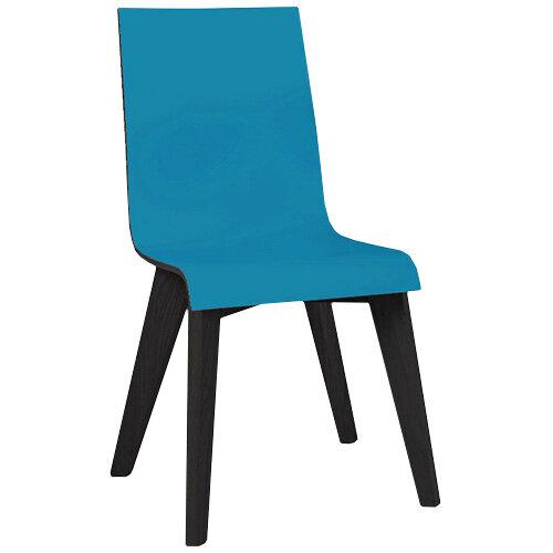 Frovi JIG 2-TONE 4 Leg Wooden Frame Canteen Chair Black Oak H880xW430xD530mm 460mm Seat Height