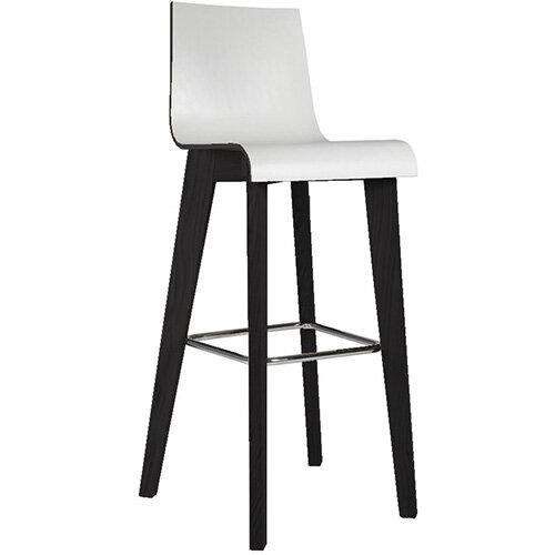 Frovi JIG 2-TONE 4 Leg Wooden Frame Canteen Stool Black Oak H1050xW460xD530mm 820mm Seat Height