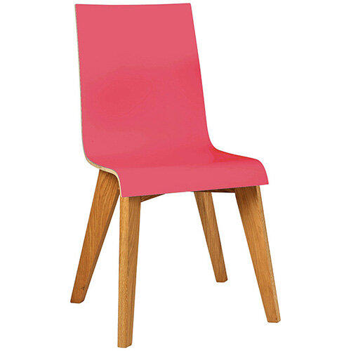 Frovi JIG 2-TONE 4 Leg Wooden Frame Canteen Chair Natural Oak H880xW430xD530mm 460mm Seat Height