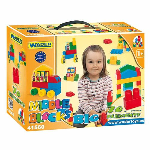Large Blocks Set of 70 Pieces - Suitable for Ages 1+