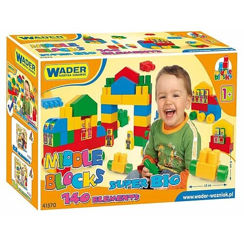 Large Blocks Set of 140 Pieces - Suitable for Ages 1+