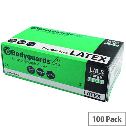 Wallace Cameron Medium Disposable Latex Medical Examination Gloves Pack of 100