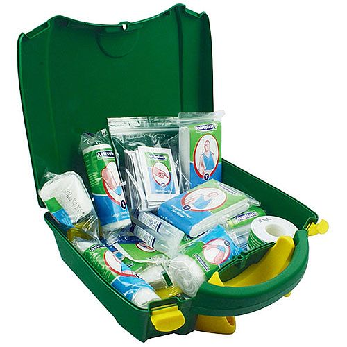Wallace Cameron Green Box Vehicle First Aid Kit Up to 10 Person
