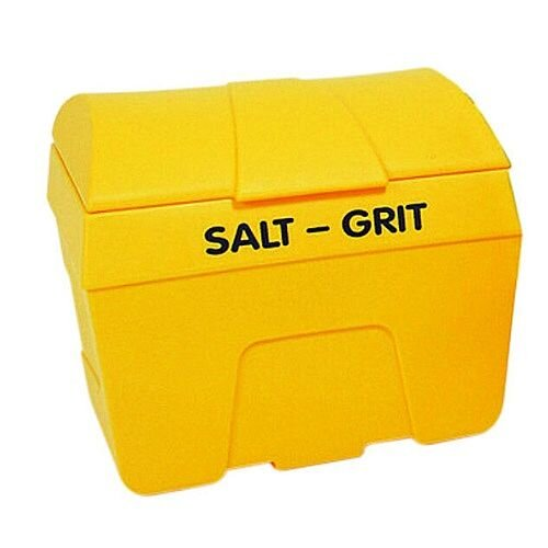 Winter Lockable Salt and Grit Bin Yellow 400 Litre No Hopper 317074