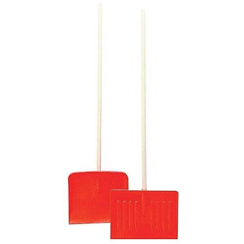 Winter Snow Shovel/Pusher Wood Pole Orange 317595