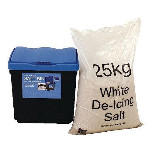 30 Litre Grit Blue Bin and 25kg Salt Kit (Pack of 1) 389113