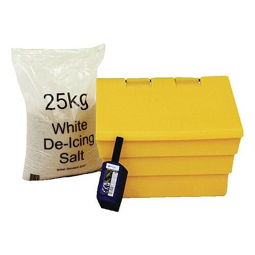 50 Litre Grit Yellow Bin and 25kg Salt Kit (Pack of 1) 389115