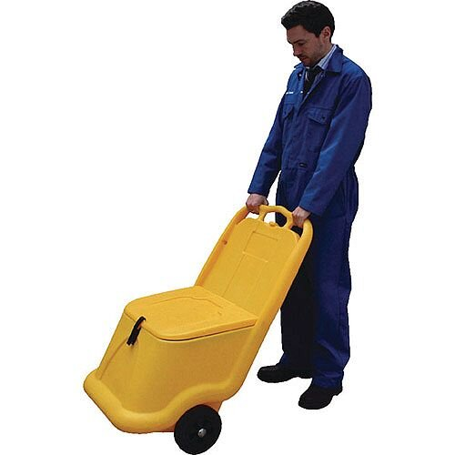 Mobile Salt and Grit Bin 75 Litre Yellow (Pack of 1) 388946