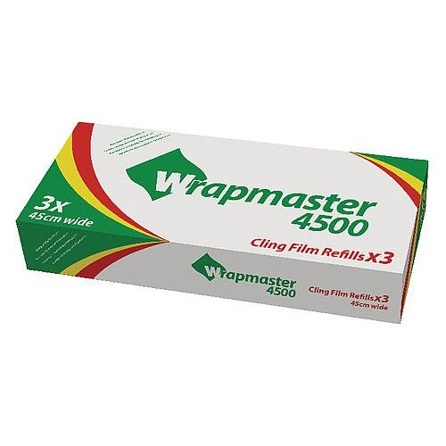 Wrapmaster 4500 Cling Film Refills 450mm x 300m Pack of 3 31C81